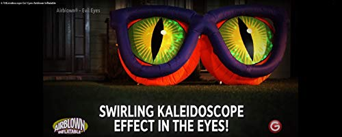 Halloween Inflatable 6' Wide Projection Evil Eyes Airblown Decoration]()
