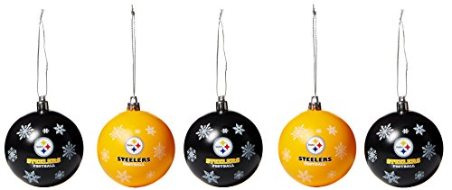Pittsburgh Steelers 2016 5 Pack Shatterproof Ball Ornament Set]()