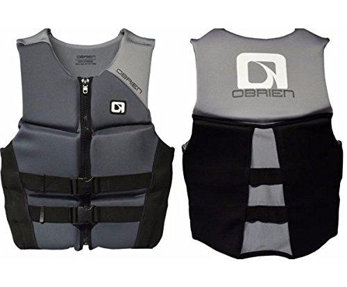 O'Brien Men's Hinged Neoprene Life Vest - Grey Sz Medium by O'Brien
