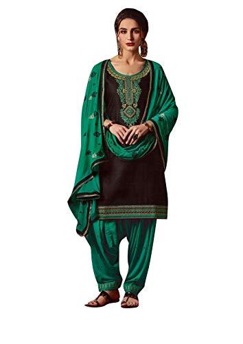 - Ladyline Cotton Embroidered Patiala Salwar Kameez Women's Dress