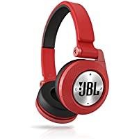JBL SYNCHROS E40BT High-Performance Wireless On-Ear Bluetooth Stereo Headphone, Red (Certified Refurbished)