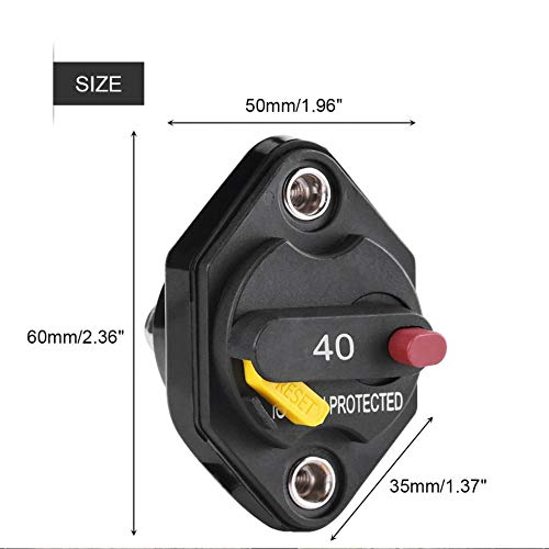 2PCs Circuit Breaker 15A with Manual Reset Button Fuse Holder for ...