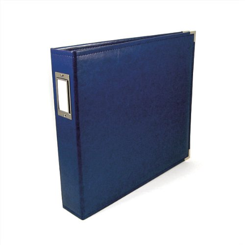 We R Memory Keepers Faux Leather 3-Ring Album -  8.5 x 11 inch, Cobalt