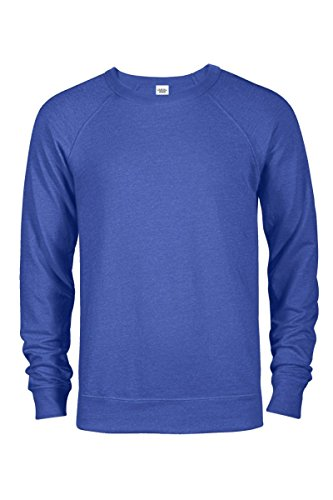 Royal Blue Heather (Casual Garb Men's Crew Neck Sweatshirts French Terry Crewneck Sweatshirt For Men Royal Heather X-Large)