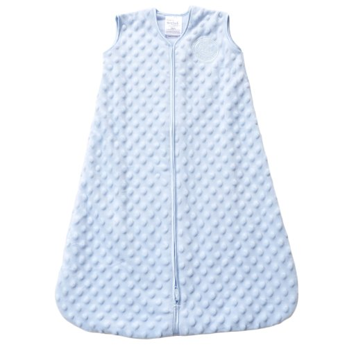 HALO SleepSack Plush Dot Velboa Wearable Blanket, Blue, Medium