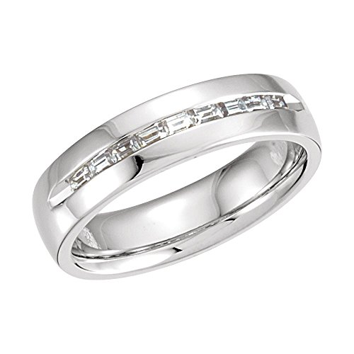 White-gold 3/8 Ctw Diamond Wedding Band by JE