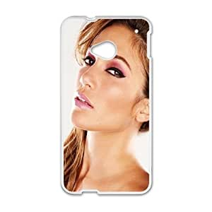 HTC One M7 Cell Phone Case White Sexy Jennifer Lopez SUX_930204