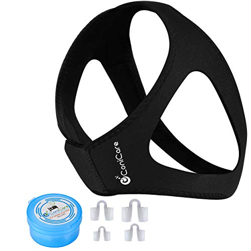 Conicare Anti Snoring Chin Strap And Nose Vents Snoring Solution Kit   Effective Instant Snore Reduction Relief Guard   Natural And Comfortable, Aids With Snoring   Adjustable Strap, Apnea CPAP Device