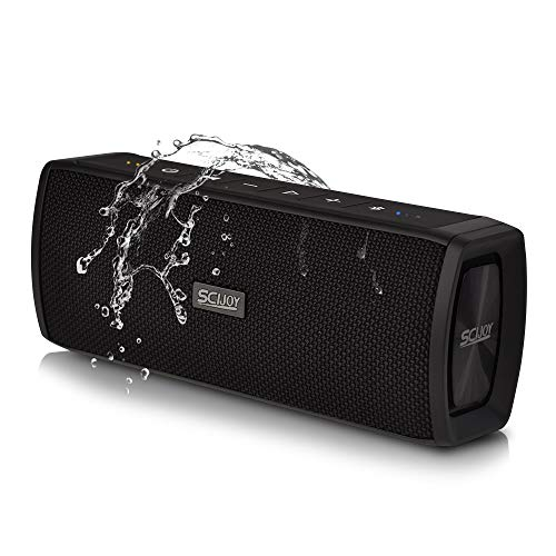 Bluetooth Speaker Portable Waterproof Outdoor Wireless Speakers Loud Sound Rich Bass,16W Shockproof Speaker,Built-in Mic,StereoParing,Auto Off,65ft Range