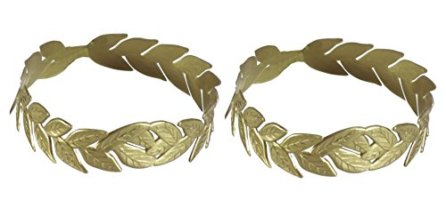 Olympic Costume Ideas - Laurel Wreath Gold Headpiece - Pack