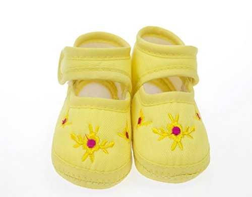 Bonamart Baby Toddler Unisex Weiche Sohle Rutschfeste Schuhe Krabbelschuhe Pflaume gelb