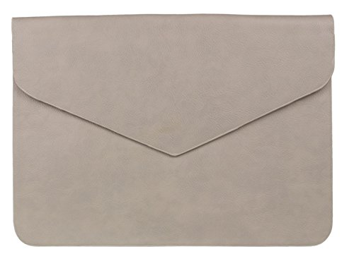 Oversized Plain Simple Envelope Evening Design Grey Girly Clutch Leather Faux HandBags Bag AUxCqwf