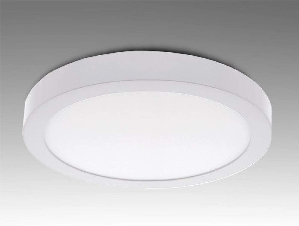 Greenice | Plafón LED Circular Superficie Ø169Mm 12W 930Lm 30.000H | Blanco Natural
