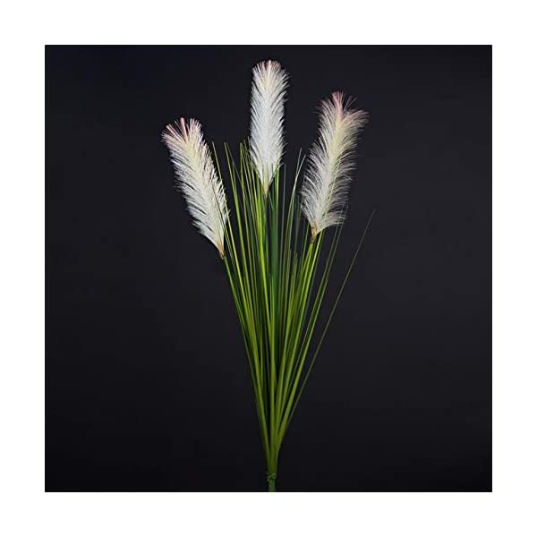 Hockus Decorations Artificial Flower Reed Grass Foxtail Fake Flower Decorative Plant Potted Plant Plastic Home Decoration Fake Grass Plants – (Color: 1pcs)