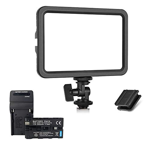 koolehaoda Camera 204 Led Lighting Panel, Video Photo Studio Light, (Led-204+Battery)