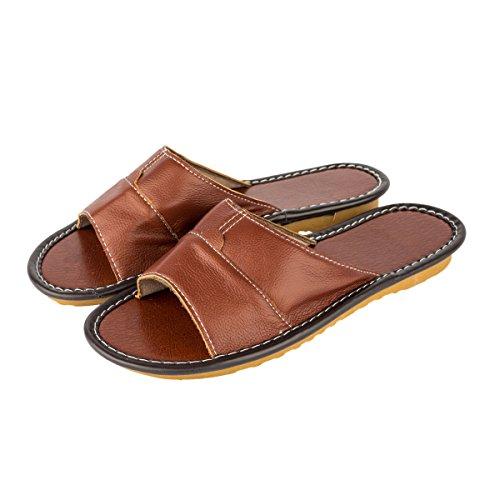 Haisum Comfortabele Comfortabele Herenpantoffels Indoor Antislip Huisschoenen Slip-on Slaapkamer-slippers Lichtbruin