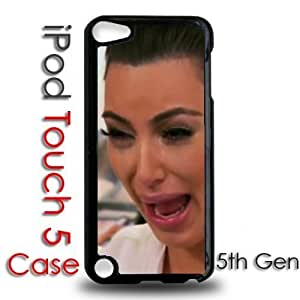 IPod 5 Touch Black Plastic Case - Kim Kardashian Crying Hilarious Face