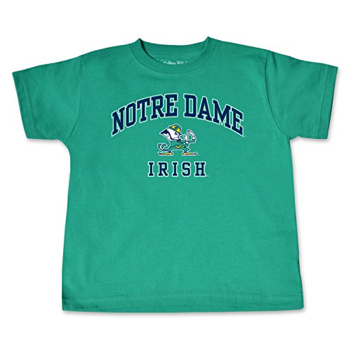 Fighting Irish Green Jersey - NCAA Notre Dame Fighting Irish Toddler Short Sleeve Tee, 2 Toddler, Kelly