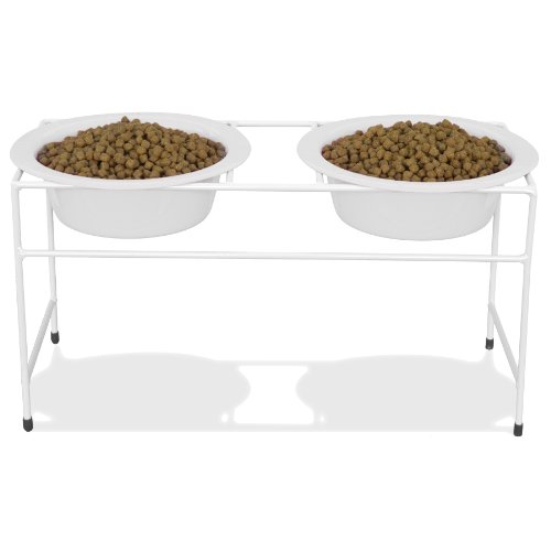 Platinum Pets Double Diner Feeder with Stainless Steel Dog B