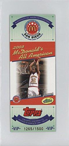 Lebron James #1265/1,500 (Basketball Card) 2006 eTopps McDonald's All American - [Base] #LEJA.2