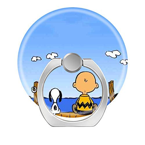 (Smart Phone Stand Ring Holder Universal 360 Degree Rotating Finger Grip Kickstand for All Cell Phones Tablets-Generic Cute Cartoon Peanuts Snoopy Non)
