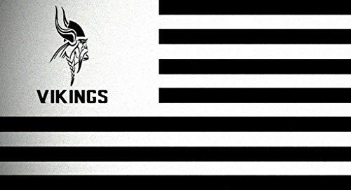 Horizontal Minnesota Vikings Flag Stencil Mylar Football Signs Flags Sport Stencils ()