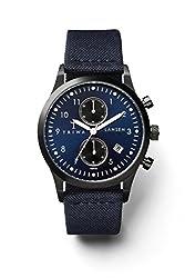Triwa Lansen Chrono Wrist Watch w/ Canvas Band (Navy)