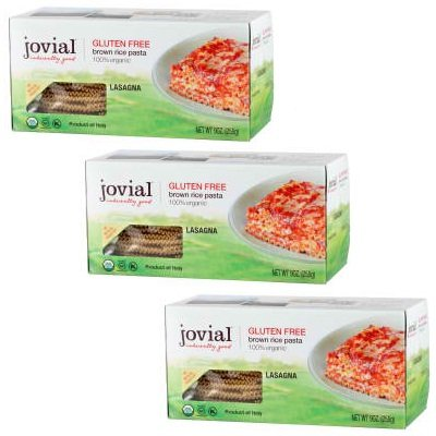 Jovial Organic Brown Rice Lasagna Pasta, 9 Ounce - 12 per case.