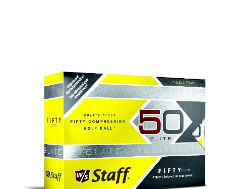 Wilson Staff  Fifty Elite Golf Balls, Yellow, Pack of 12 ()