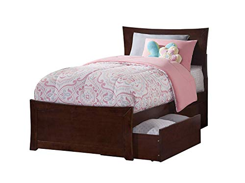 Atlantic Furniture AR9016114 Bed, Twin/X-Large, Walnut ()