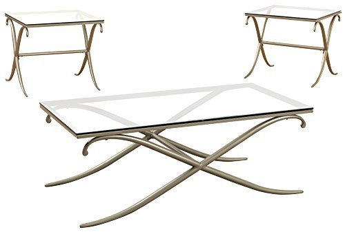 247SHOPATHOME IDF-4220-3PK Living-Room-Table-Sets, Gold