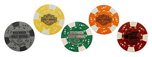 Used, Harley-Davidson Wisconsin Harley Genuine Poker Chips, for sale  Delivered anywhere in USA