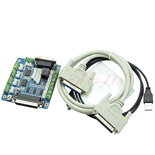 FidgetKute CNC Breakout Board Interface Adapter for Stepper Motor + USB DB25 Cable v Show One Size