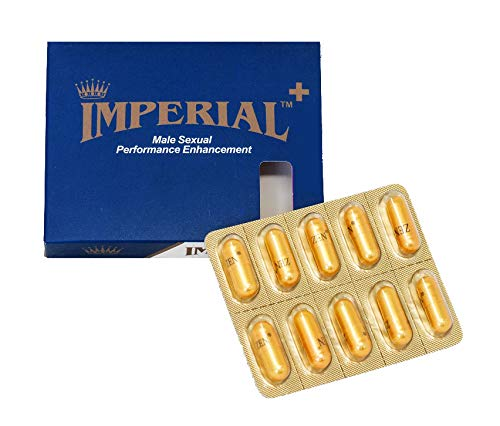 Imperial + Plus Male Sexual Performance Enhancement 100% Authentic 10 Pills Most Effective Natural Amplifier for Strength and Endurance Made in USA (Pack of - Maximum Sexual Enhancer