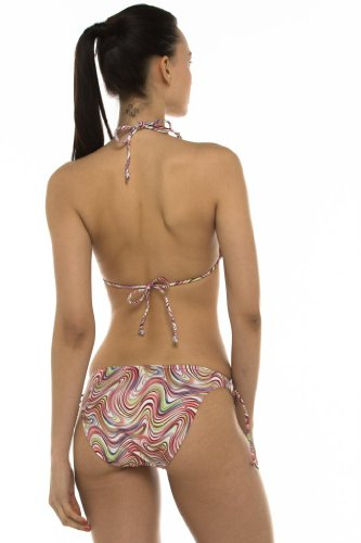 Private Island Hawaii UV Women Triangle Stringer Bikini Top Rainbow XX-Large