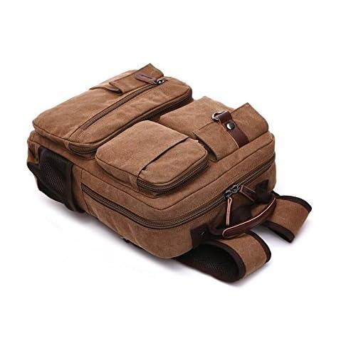 LF&F backpack Toile Unisexe Sac bandoulière léger sac à dos informatique sac de voyage en plein air sac étudiant universitaire sac d'utilisation quotidien