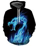 Unisex 3D Printed Big Pockets Drawstring Galaxy Hoodie Sweatshirt