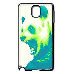 [Beautiful Panda] Panda Drawing Green Case For Samsung Galaxy Note 3 {Black}