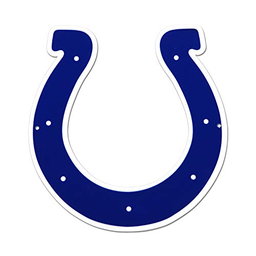 - NFL Indianapolis Colts Metal Logo Sign, 12 inch