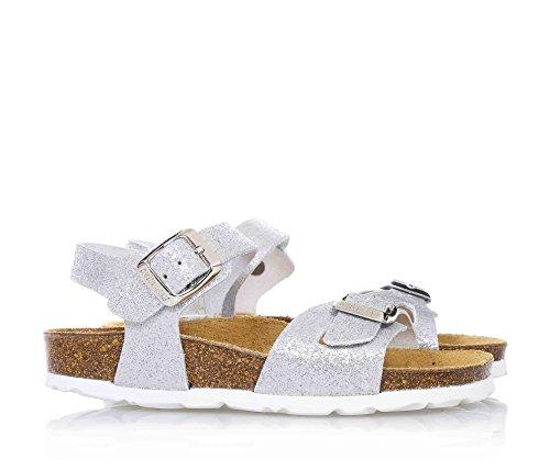 Grunland Luce filles, cuir lisse, sandales
