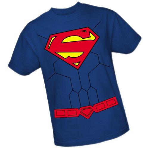 New Superman Costumes (Superman Costume -- DC Comics - The New 52 Adult T-Shirt, Small)