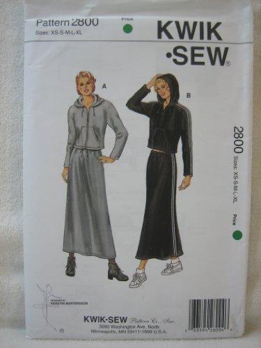 Kwik Sew Pattern 2800 - Misses' Jackets and Skirt (Sizes XS-S-M-L-XL)