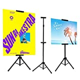 Yiwulood Double-Sided Poster Stand, Floor Standing Sign Stand for Display, Foam Board Sign Height Adjustable up to 72 Inches (1 Pack)