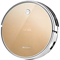 Minibot X5 Robot Vacuum Cleaner For Pets Hair Hard Floor With Strong Suction Golden Mopping