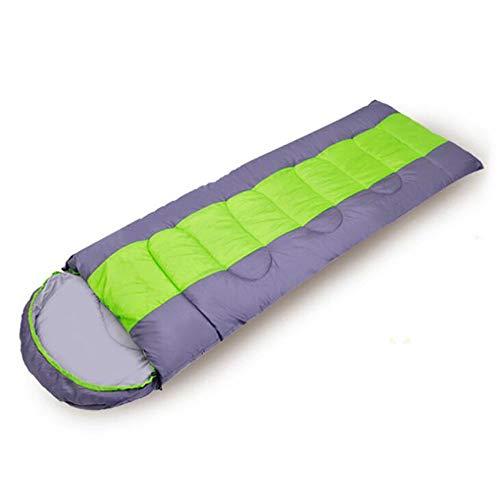 ZY Doppel-Schlafsack für Vier Jahreszeiten für Erwachsene, eine Vielzahl von Camping Schlafsäcken Mittagspause Reise Camping Schlafsack erweitert,Grün,1.6KG