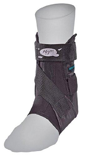 Mueller Hg80 Ankle Brace - Mueller HG80 Rigid Ankle Brace, Latex Free, bag, Achilles strap & Aircells - Right, X-Large