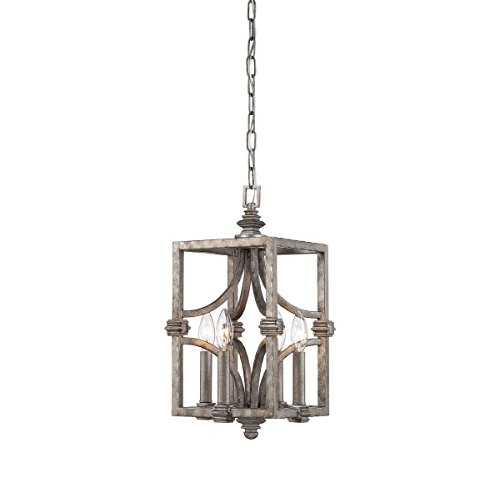 Foyers Pendant House Ceiling Savoy - Savoy House 3-4302-4-242, Structure 4- Light Foyer, Aged Steel