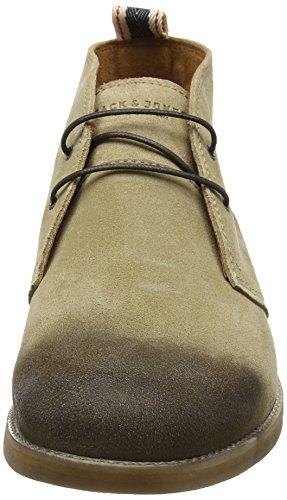 JACK & JONES Jjalpha Waxed Suede Chukka Boot Sand - Botines Hombre Marrón - marrón
