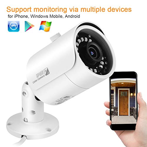 1080P Security Camera 2.0MP Outdoor IP66 Waterproof IP Network Camera IR Night Vision Motion Detection Alarm, for Banks, Governments, Schools, Hotels, etc