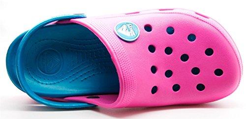 calzado 2 sandalias Teal mujer zapatillas Pink Surf jardín Beach informal de Zuecos para impermeables wFvSg